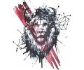 Nieuw!!! Plaktattoos tattoo voorbeeld Leeuw met Kras