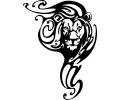 Sterrenbeelden tattoo voorbeeld Leeuw met versiering