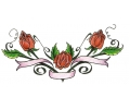 Onderrug Tattoos tattoo voorbeeld Onderrug Tattoo Rozen