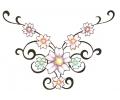 Onderrug Tattoos tattoo voorbeeld Onderrug Tattoo met Bloemen