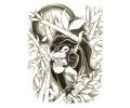 Roofdieren tattoo voorbeeld Panter 2
