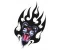 Roofdieren tattoo voorbeeld Panter Tribal