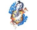 Middeleeuwen & Ridders tattoo voorbeeld Ridder, Leeuw en Banner