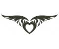 Onderrug Tattoos tattoo voorbeeld Rugtattoo Gevleugeld Hart