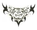 Onderrug Tattoos tattoo voorbeeld Rugtattoo Tribal Roos