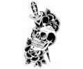 Skulls Zwartwit tattoo voorbeeld Skull met Mes