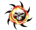 Skulls Kleur tattoo voorbeeld Skull met Zon