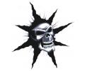 Skulls Zwartwit tattoo voorbeeld Skull Ster