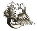 Nieuw!!! Plaktattoos tattoo voorbeeld Spreeuw