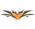 Onderrug Tattoos tattoo voorbeeld Tribal met Vlinder