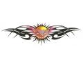 Onderrug Tattoos tattoo voorbeeld Tribal met Zon