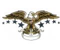 Adelaars tattoo voorbeeld USA Eagle met Banner