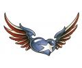 USA & Redneck Tattoos tattoo voorbeeld USA Gevleugeld Hart