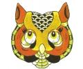 Overige Vogels tattoo voorbeeld Uil met Kleurtjes