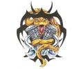 Slangen tattoo voorbeeld Viper met Motorblok