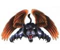 Roofdieren tattoo voorbeeld Vliegende Panter