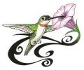 Bloemen tattoo voorbeeld Vogel met Bloem