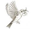Overige Vogels tattoo voorbeeld Vogel met Kersen