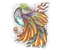 Overige Vogels tattoo voorbeeld Vogel met Skull XL