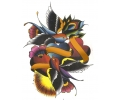 Nieuw!!! Plaktattoos tattoo voorbeeld Vogels met Banner