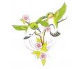 Bloemen tattoo voorbeeld Vogels met Bloemen