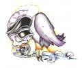 Motor / Biker tattoo voorbeeld Vulture Biker