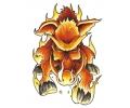 Vlammen & Vuur tattoo voorbeeld Wild Zwijn