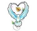 Duiven tattoo voorbeeld Witte Duif