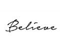 Nieuw!!! Plaktattoos tattoo voorbeeld Believe 1