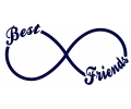 Pols Tattoo - Infinity tattoo voorbeeld Best Friends Forever