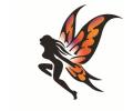 tattoo voorbeeld Dame vleugels spray