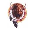 Overige dieren tattoo voorbeeld Bizon 1
