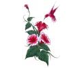 Bloemen tattoo voorbeeld Bloemen met Vogel