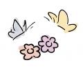 Bloemen tattoo voorbeeld Bloemvlinder
