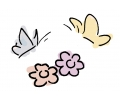 Vlinders tattoo voorbeeld Bloemvlinder