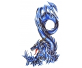 Draken tattoo voorbeeld Blue Dragon 3