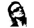 Muziek tattoo voorbeeld Bono 1