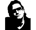 Muziek tattoo voorbeeld Bono 2