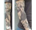 Tattoo sleeves armen tattoo voorbeeld Sleeve 14 Grim Reaper