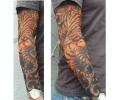 tattoo voorbeeld Tattoosleeve 16 Tijger