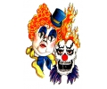Evil Clowns tattoo voorbeeld Clowns