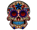 Day of the Dead Skulls tattoo voorbeeld Day of the Dead Skull 21