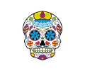 Day of the Dead Skulls tattoo voorbeeld Day of the Dead Skull 24