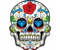 Day of the Dead Skulls tattoo voorbeeld Day of the Dead Skull 25
