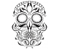 Day of the Dead Skulls tattoo voorbeeld Day of the Dead Skull 3