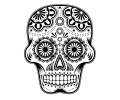 Day of the Dead Skulls tattoo voorbeeld Day of the Dead Skull 30