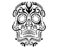 Day of the Dead Skulls tattoo voorbeeld Day of the Dead Skull 5