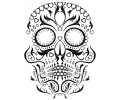 Day of the Dead Skulls tattoo voorbeeld Day of the Dead Skull 6