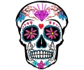 Nieuw!!! Plaktattoos tattoo voorbeeld Day of the Dead skull 8