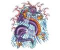 Draken tattoo voorbeeld Draak Paars